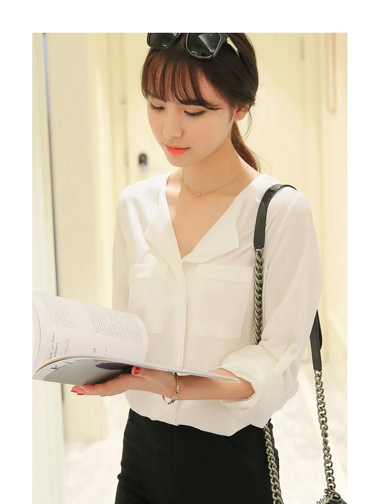 áo sơ mi nữ trắng dài tay 12