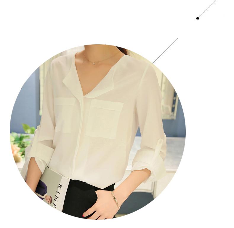 áo sơ mi nữ trắng dài tay 13