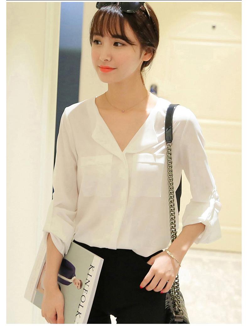 áo sơ mi nữ trắng dài tay 6