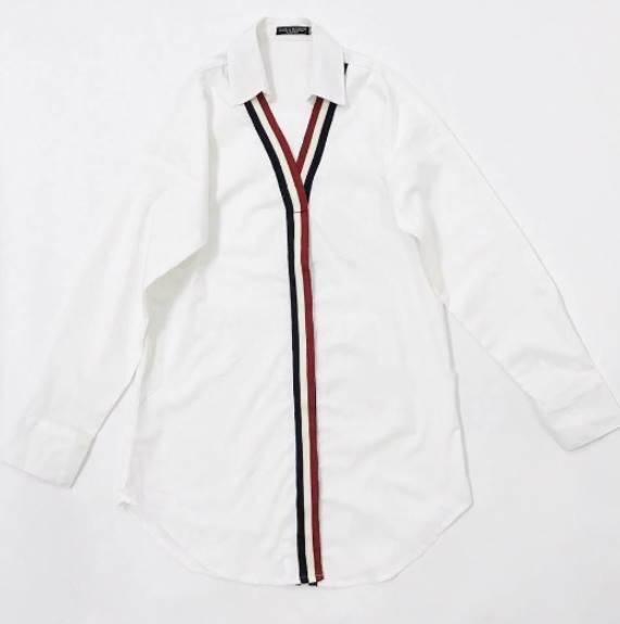 áo sơmi nữ phối viền 3