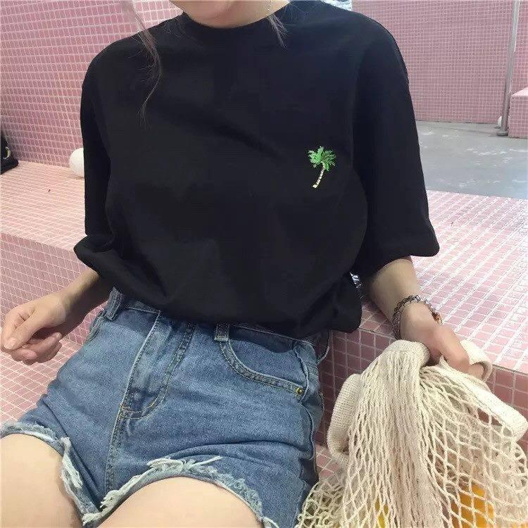 Áo Thun Nữ Cây Dừa Tay Ngắn Cổ tròn 7