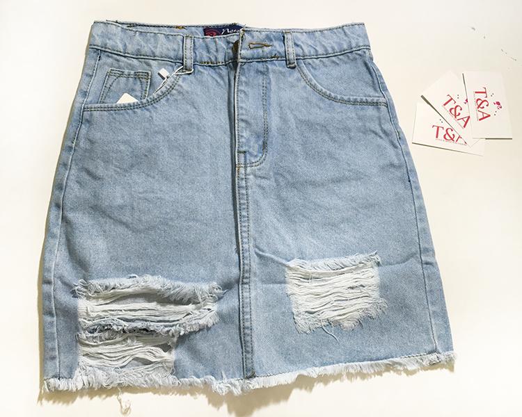 chân váy jeans rách 02