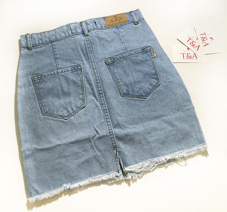 Chân váy jeans rách 04
