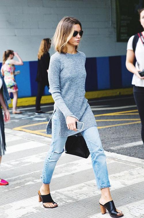 phối đồ với quần jean skinny 05