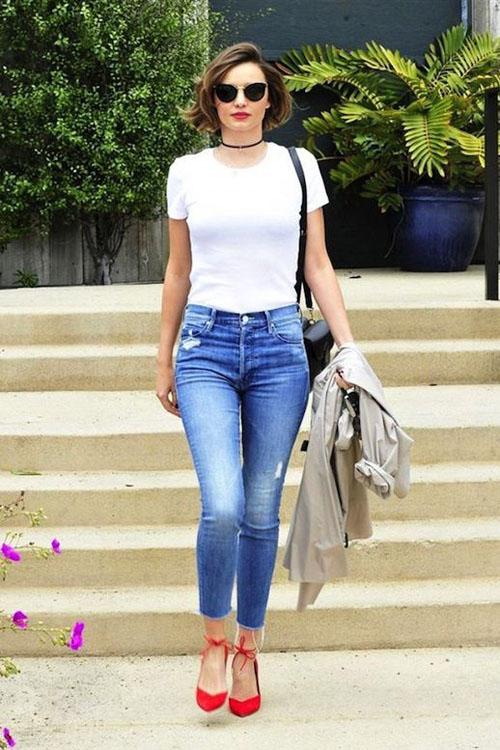 phối đồ với quần jean skinny 10