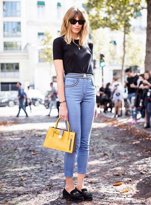 phối đồ với quần jean skinny 11