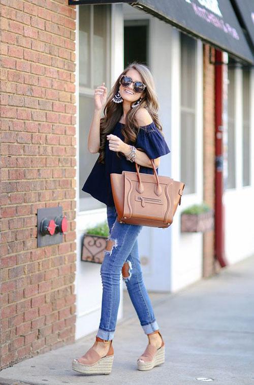 phối đồ với quần jean skinny 12