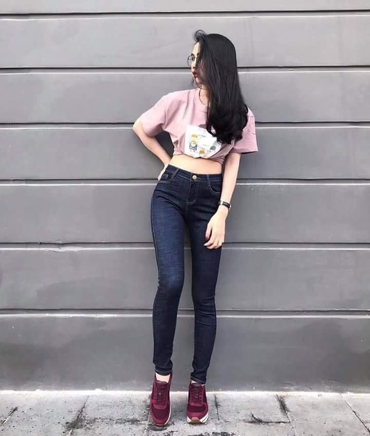 quần jean nữ xước 06