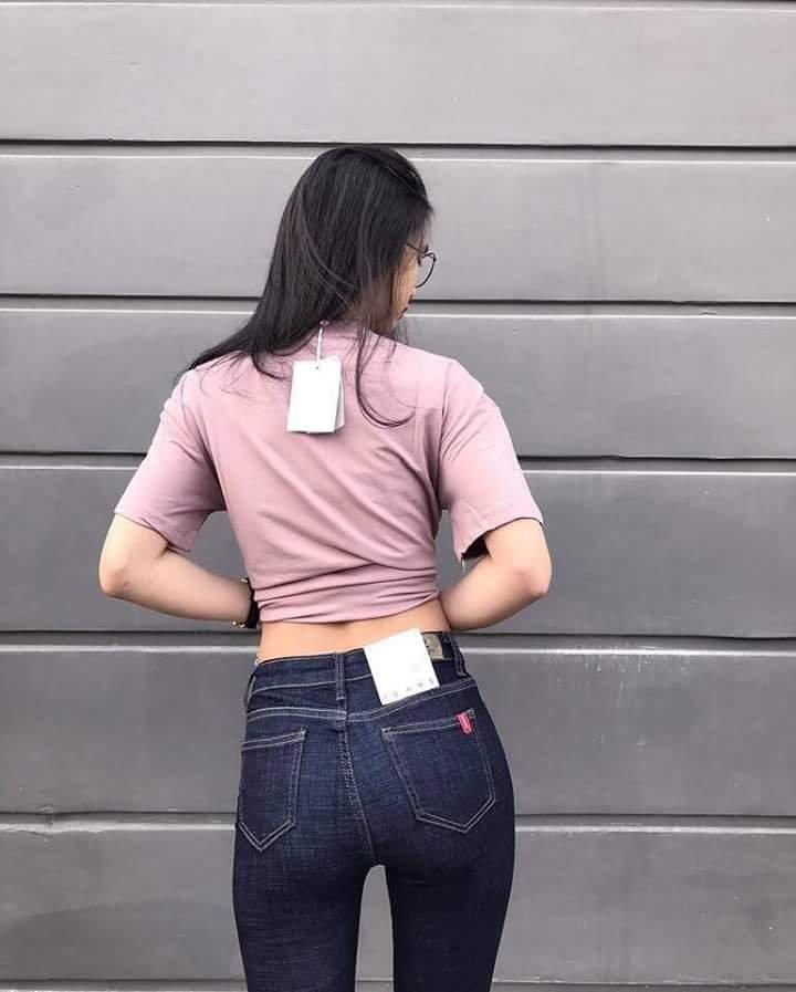quần jean nữ xước 08