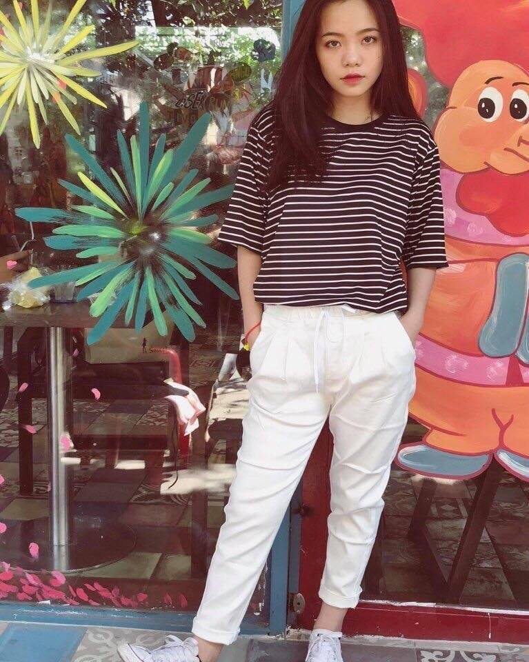 quần kaki jeans lưng thun asos 11