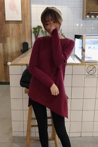 Áo kiểu vạt xéo tay dài