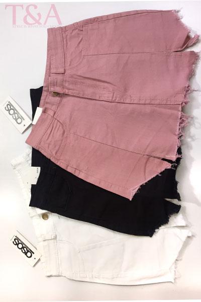 Quần short jeans giả váy